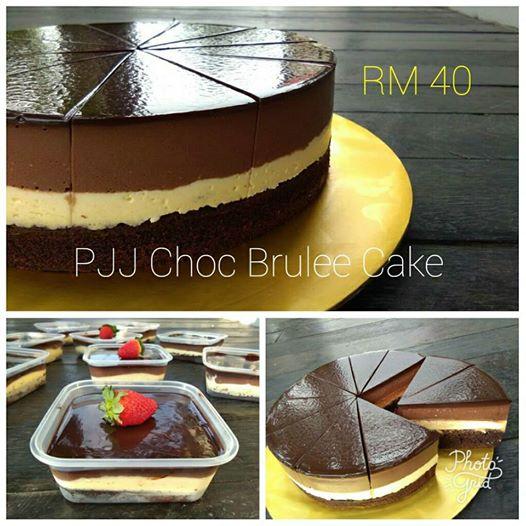 PJJ Online CHOC BRULEE CAKE