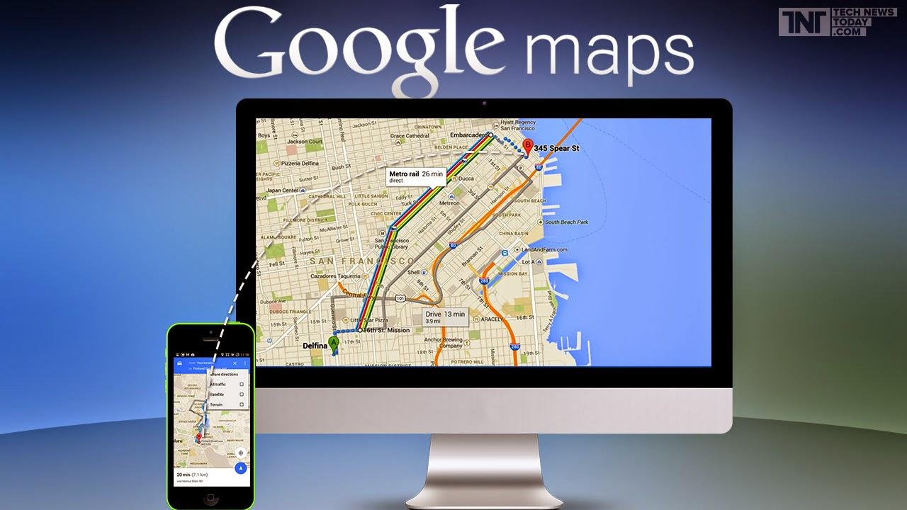 Google Maps - Atualização permite compartilhamento de rotas entre PC e celular