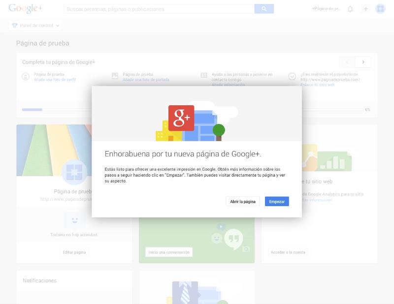 Cómo crear una página para tu blog en Google Plus