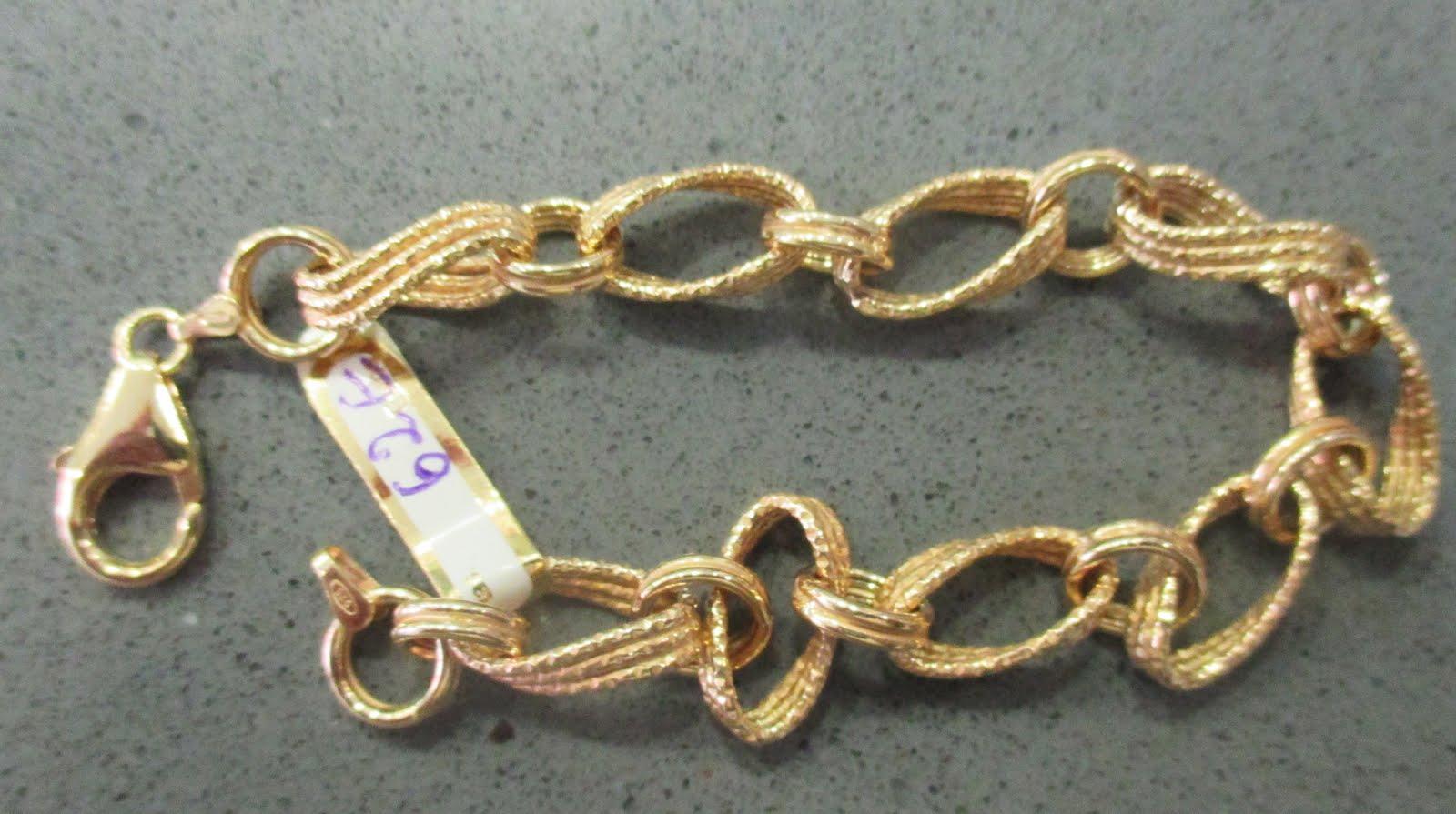 Pulsera plata dorada, diseño moderno