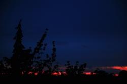 Ein Streifen Abendrot...
