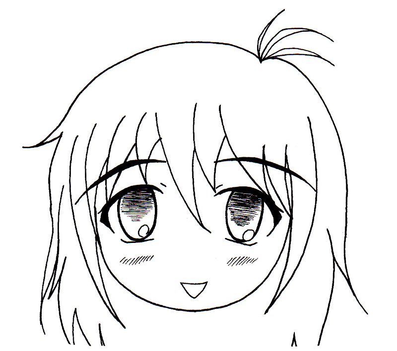 Dessin manga fille - Fille manga a dessiner ...