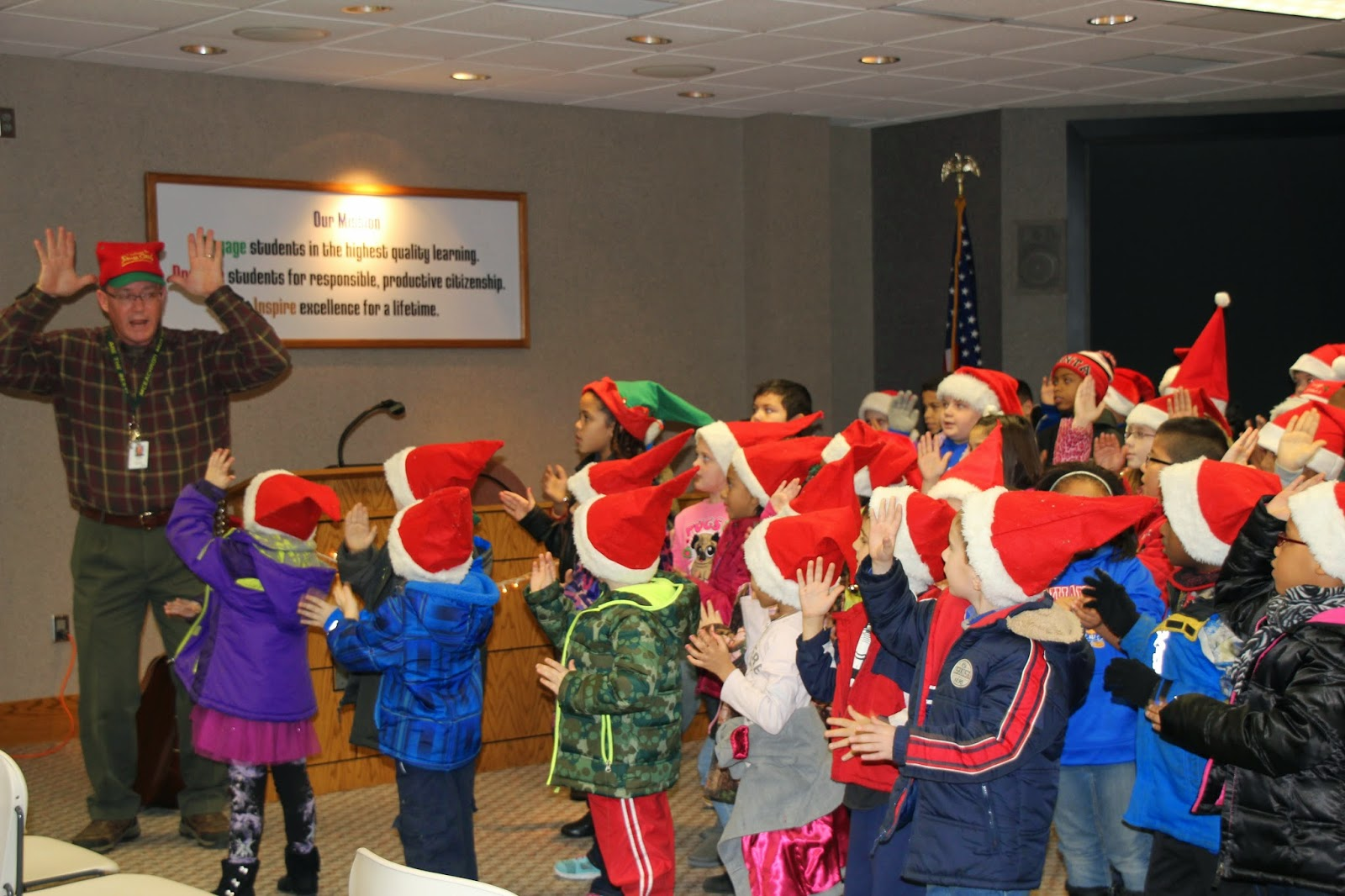Cheers For Elementary Classrooms ~ Mceachron elementary students spread holiday cheer