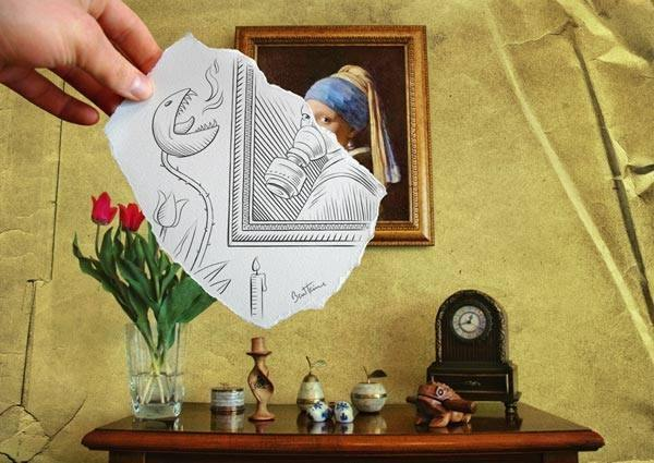 Lukisan Tangan Kreatif yang Menghasilkan Gambar Unik
