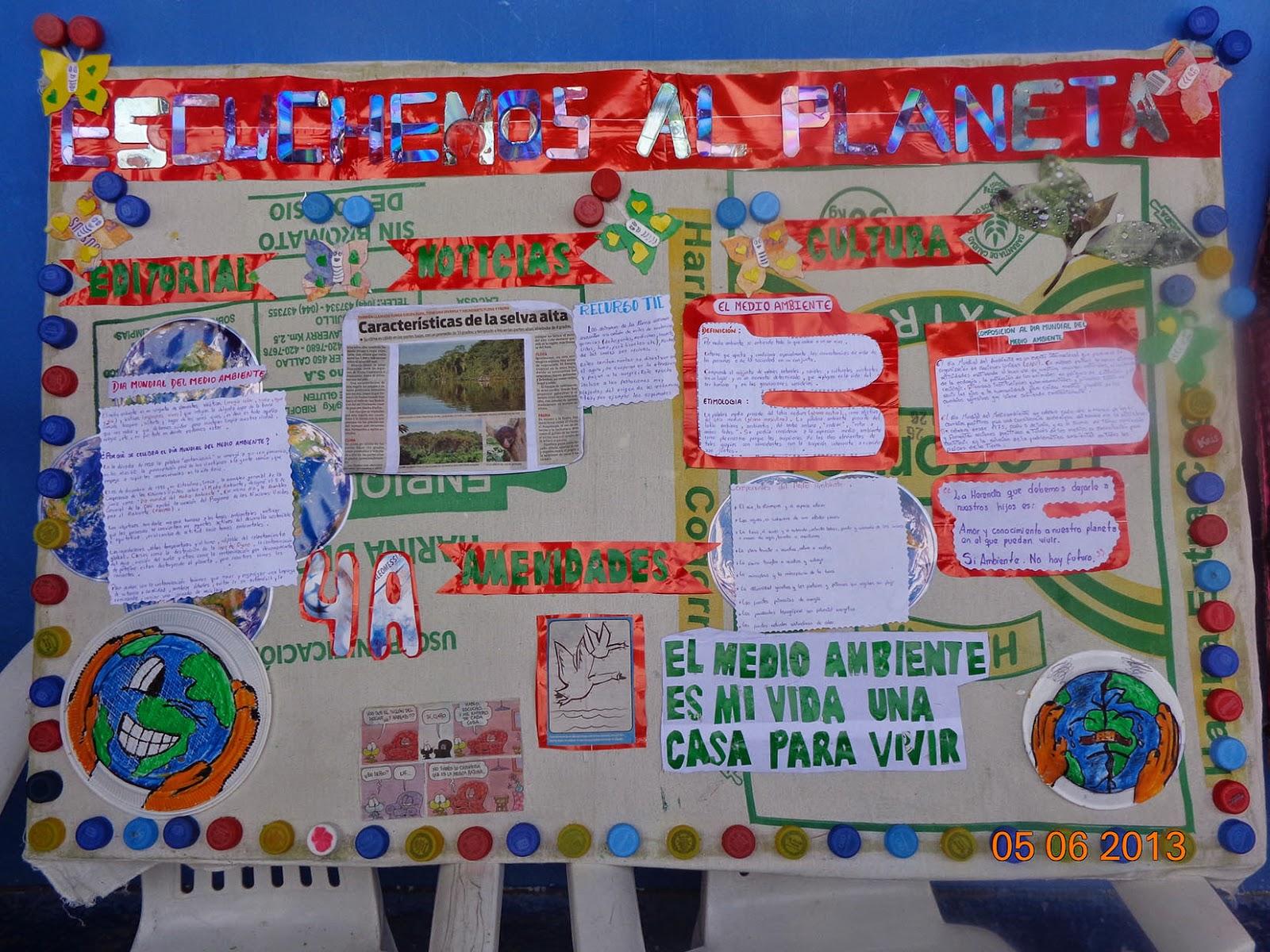 I concurso de peri dicos murales con material reciclado for Contenido del periodico mural