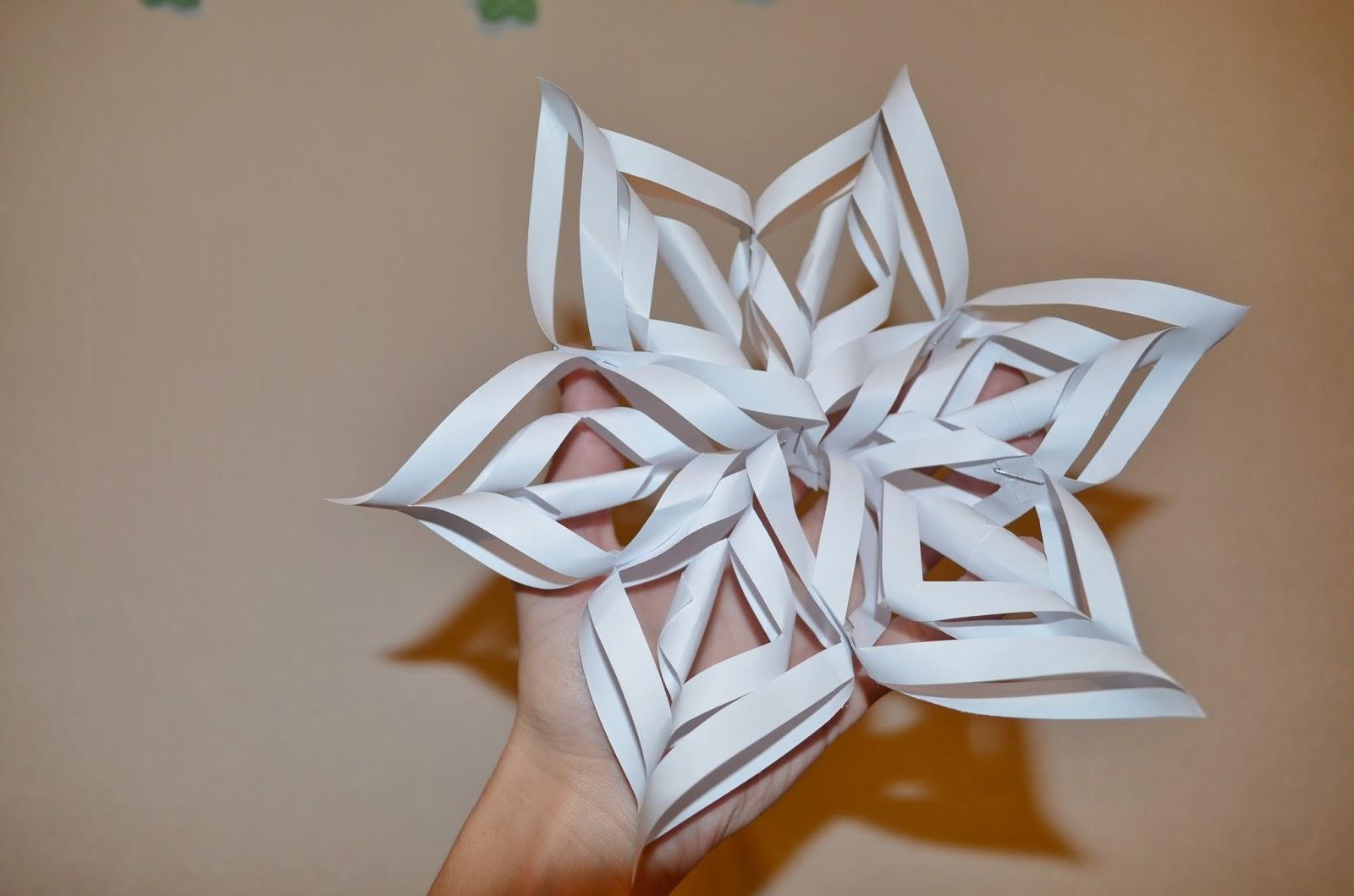 Бумажные поделки снежинки
