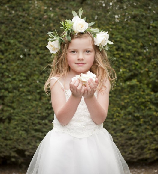 cute and beautiful white junior bridesmaid dresses