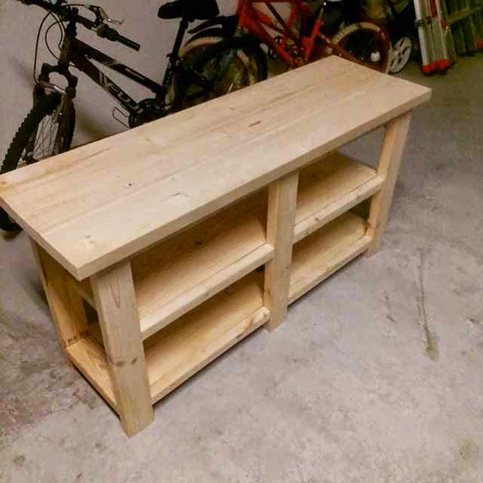 How to make a sofa table from 1 x 6 lumber - I Built Something Out Of Wood Sofa Table Diy