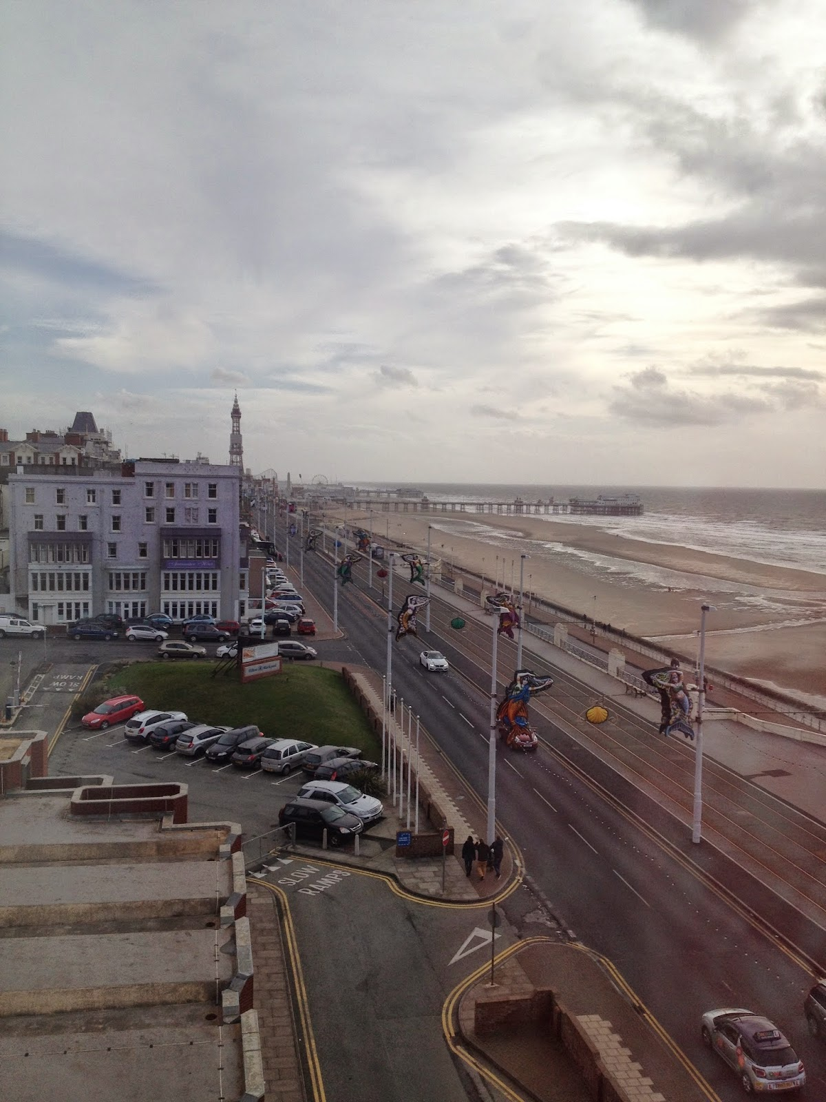 Hilton Blackpool view of Illuminations