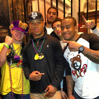 Johnny Manziel and Robert Nkemdiche hanging out in New Orleans for Mardi Gras.
