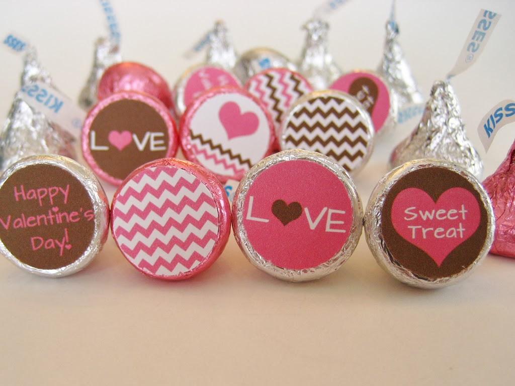 Chevron Valentine Candy Labels