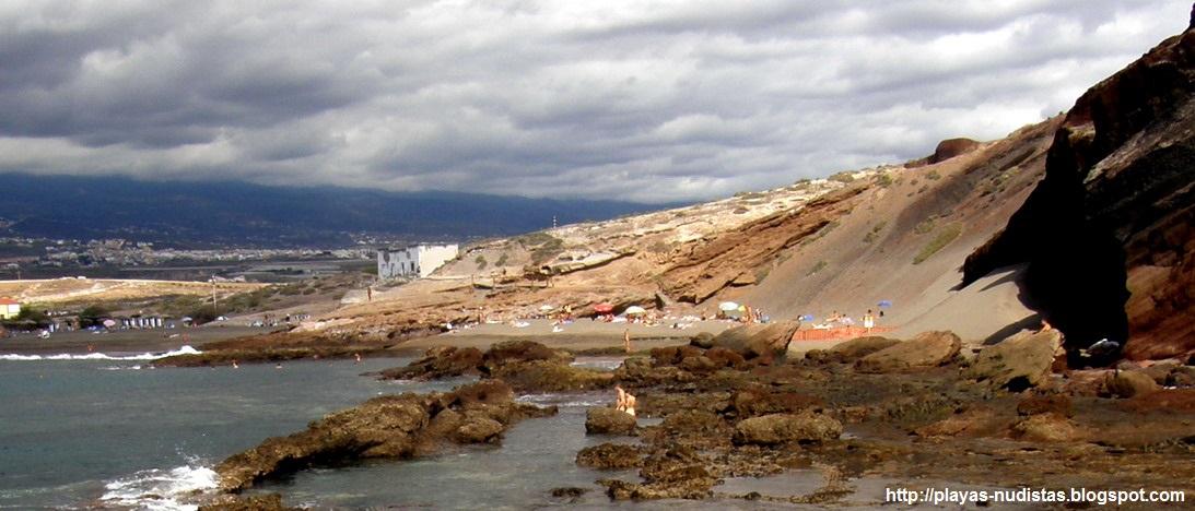 Nude beach La Tejita (Tenerife, Canary Islands, Spain)