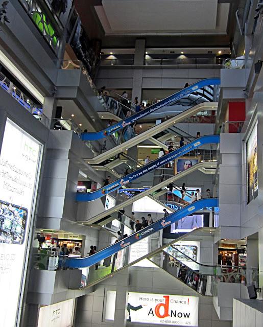 inside mbk market in Bangkok, Thailand