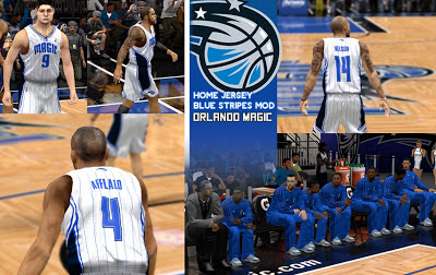 NBA 2K13 Orlando Magic Home Jersey Mod