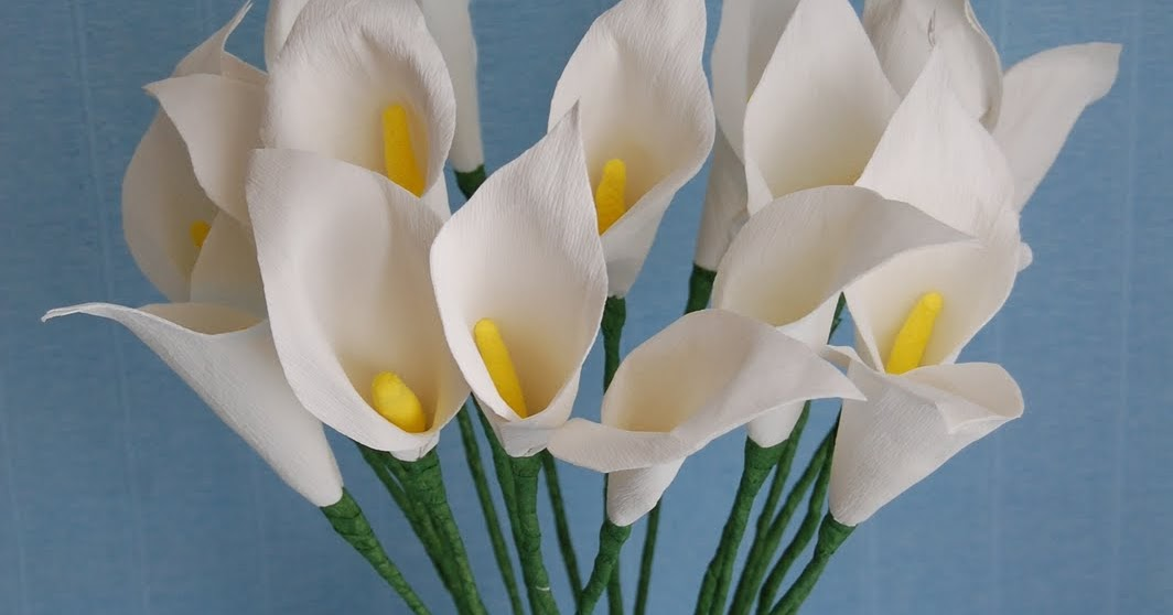 paper calla lilies lily