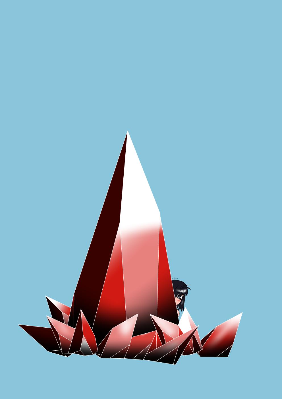 水晶の描き方練習その1(八雲楓)