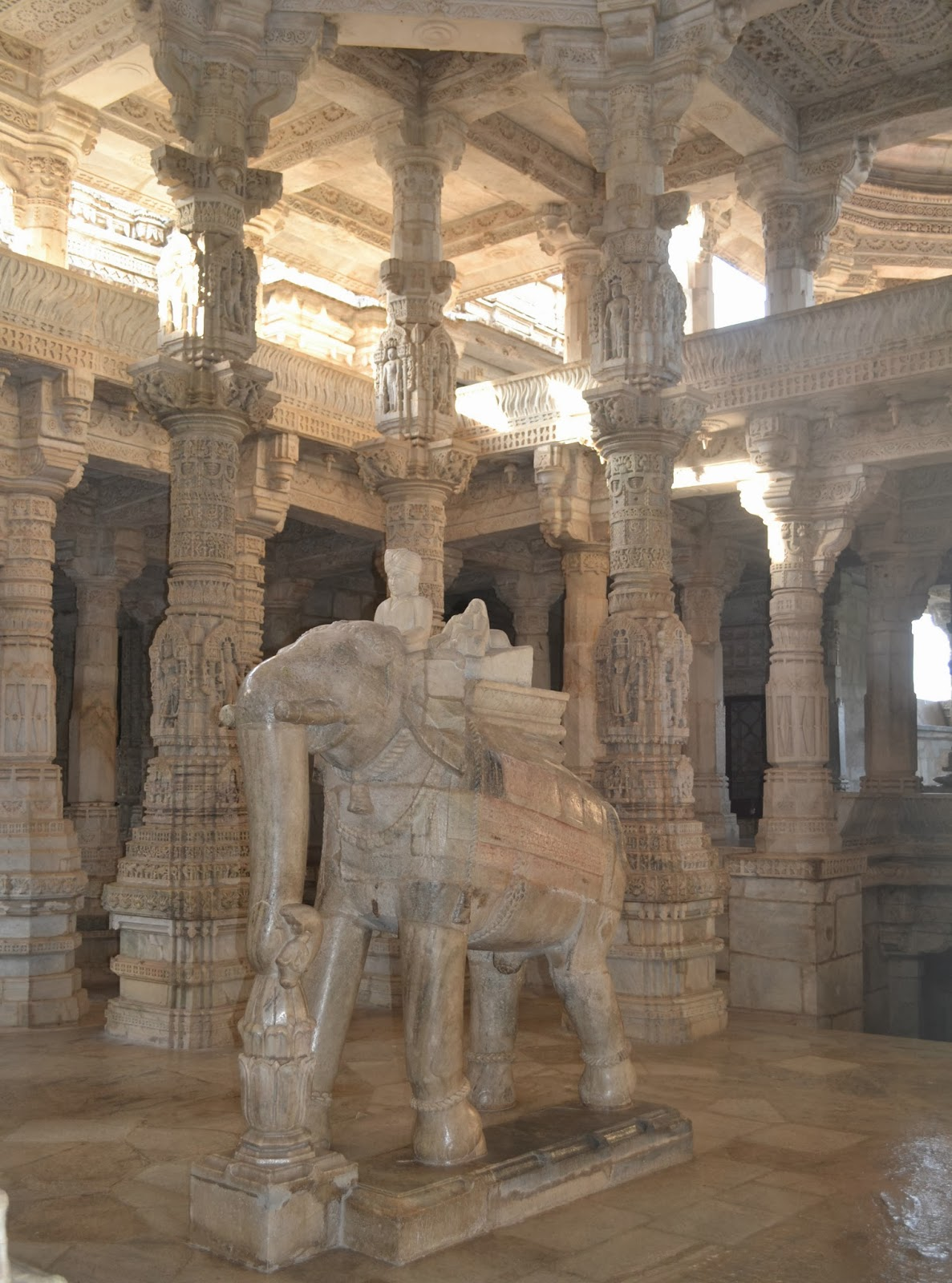 Inside Ranakpur Temple