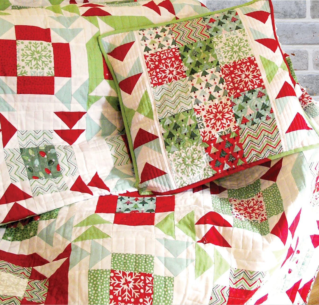 Christmas Quilt Patterns Moda : 120-Minute Gift: Yuletide Twist Pillow Moda Bake Shop