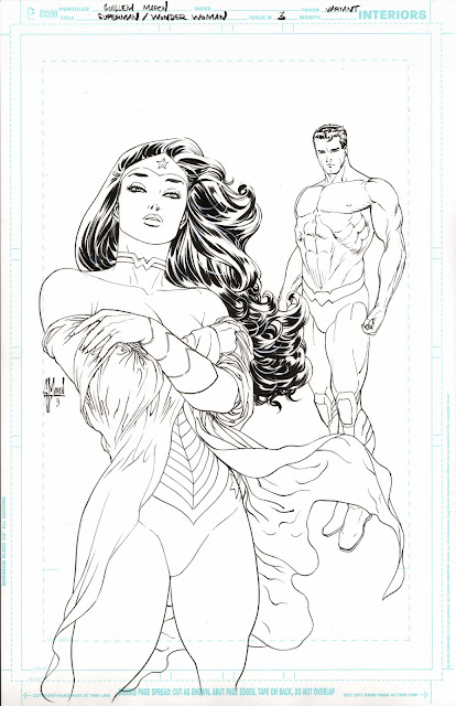SUPERMAN / WONDER WOMAN #3 variant cover by Guillem March