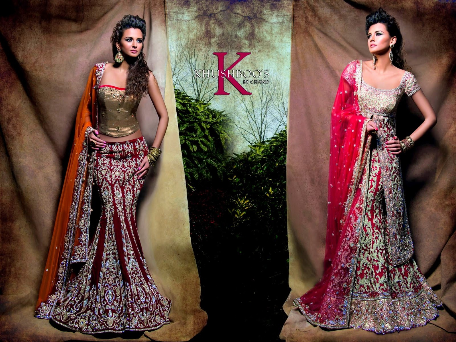 Velvet Bridal Wear Collection of Chand Bridal Dresses 2014