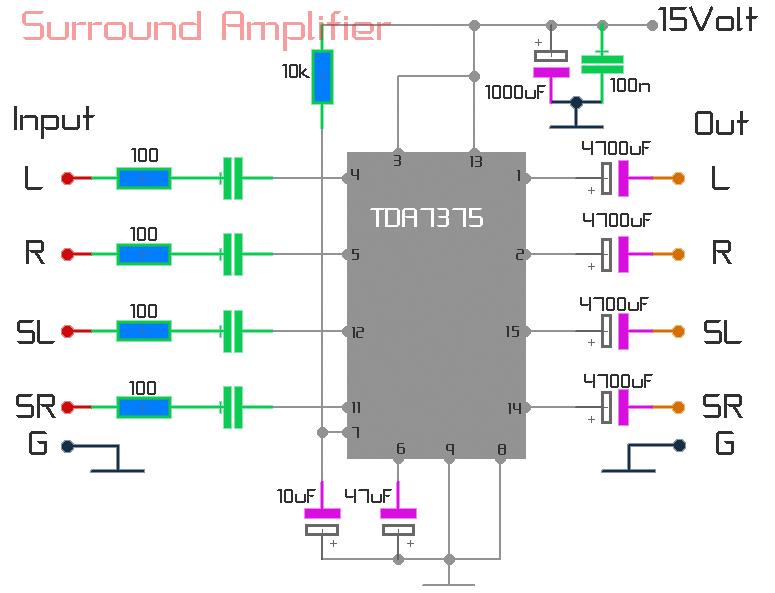 Circuit using TDA7375