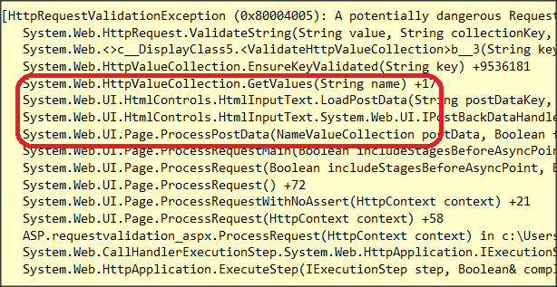 Request Validation Mode In ASP NET 45