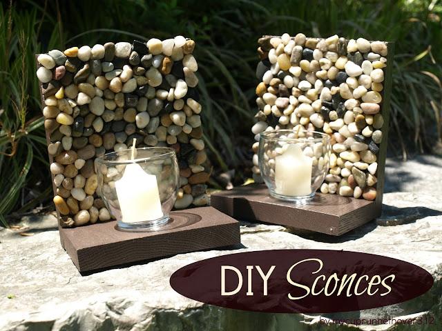 pomysł na świecznik z kamieni diy eco manufaktura