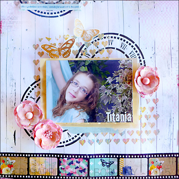Titiana Layout by Keri Babbitt using BoBunny Sweet Life