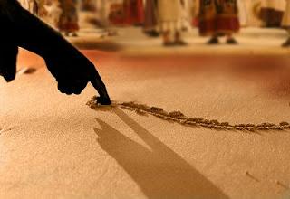 escrever na areia
