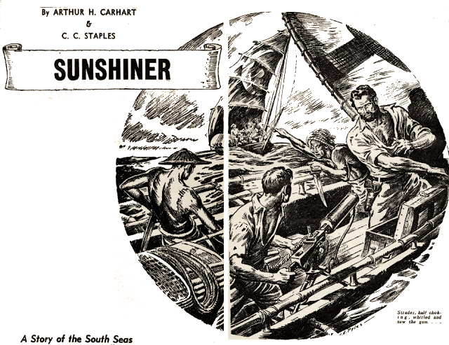 Illustration for Sunshiner by Arthur C. Carhart and C. C. Staples