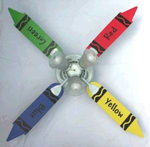 Ceiling fans in kids rooms for Kids room ceiling fan