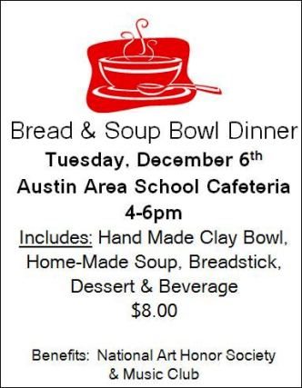12-6 Bread & Soup Bowl Dinner, Austin School