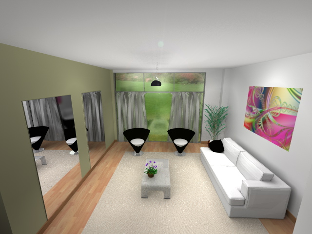 Dise o de un living comedor living familiar y minimalista for Diseno living comedor