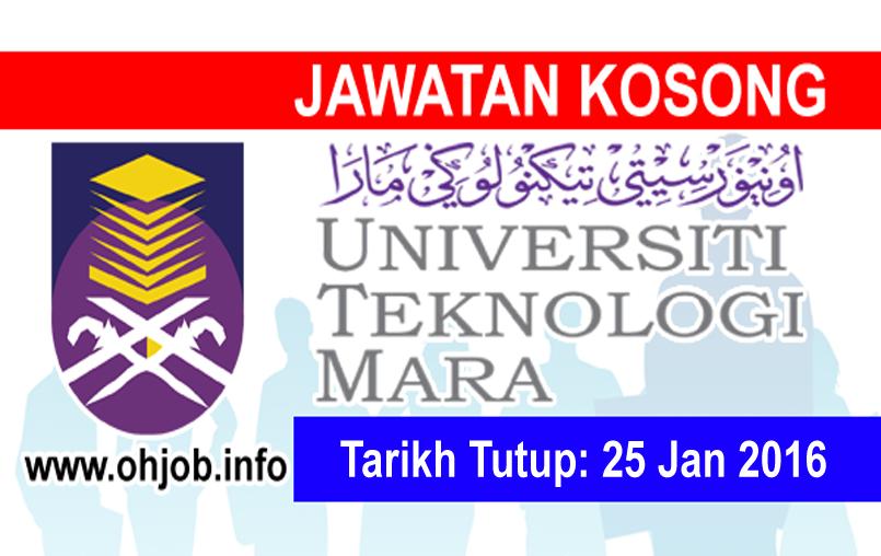 Jawatan Kerja Kosong Universiti Teknologi MARA (UiTM) Perak logo www.ohjob.info januari 2016