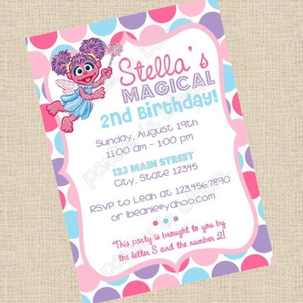 Writing Our Story Planning an Abby Cadabby Birthday Party – Abby Cadabby Birthday Invitations