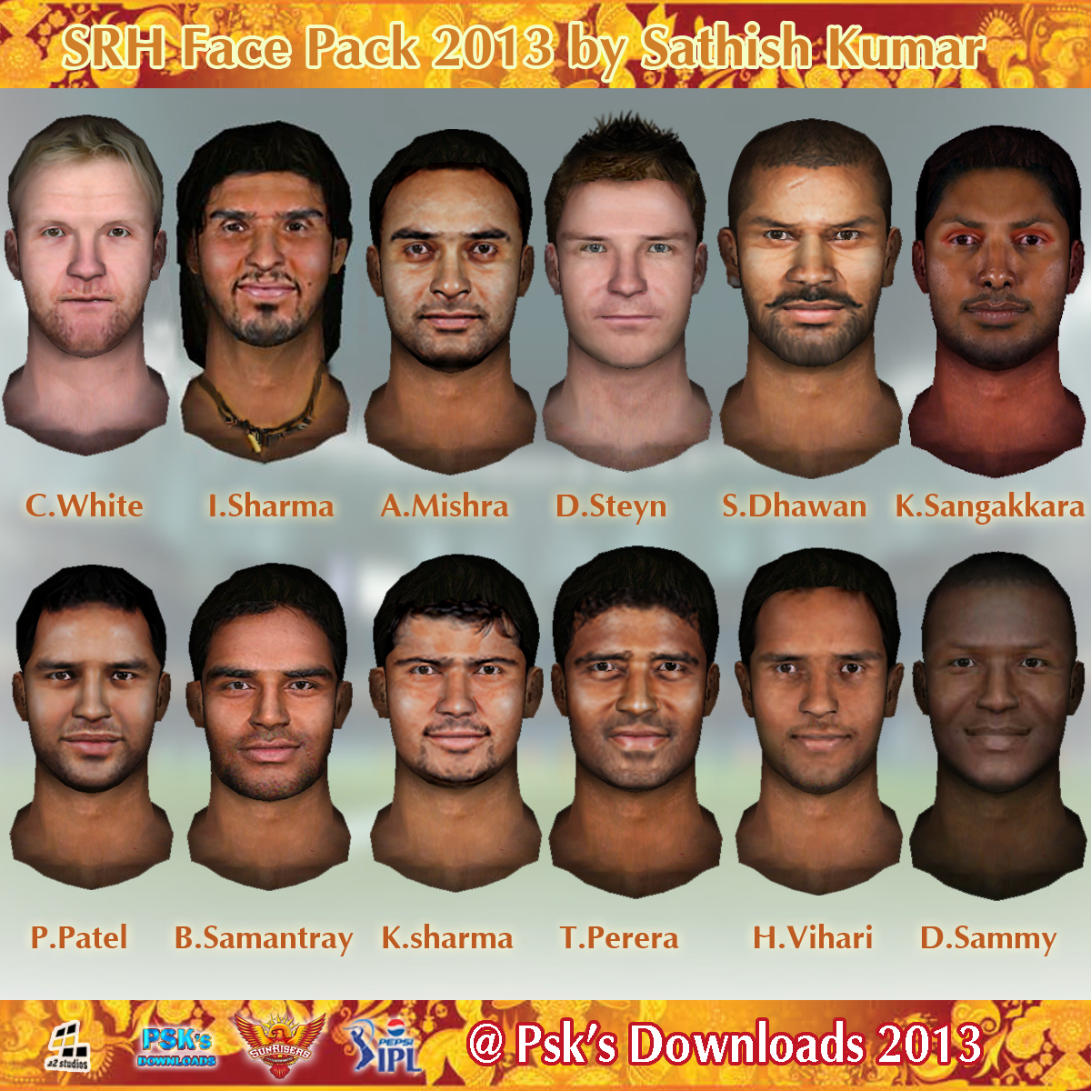 Ntr Ipl Add Download: Sunrisers Hyderabad Face Pack