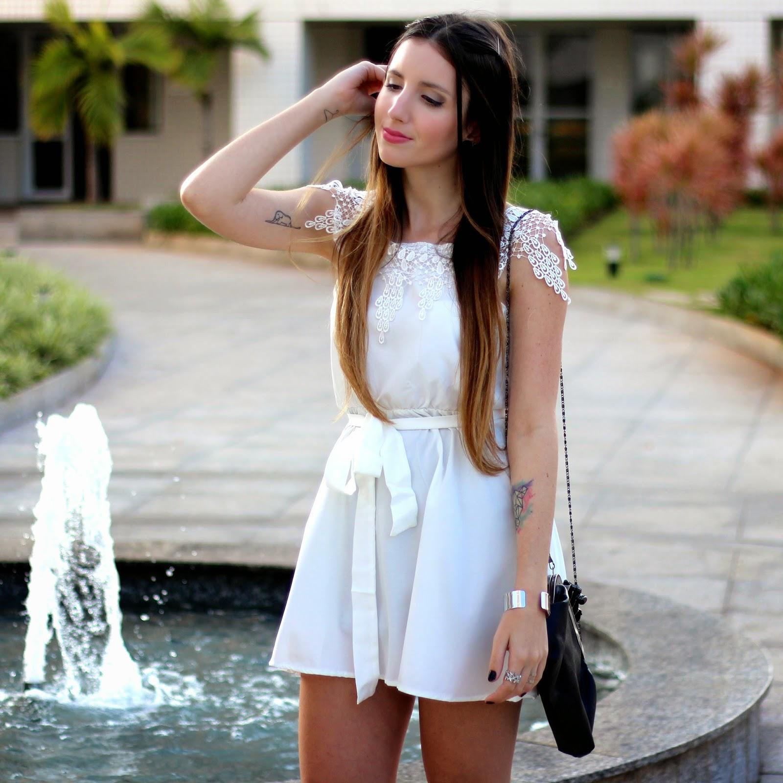 look do dia vestido branco