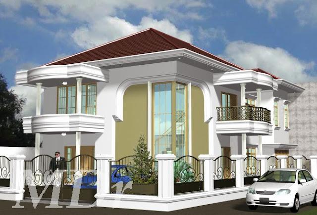 Model Rumah Mewah Bertingkat Minimalis