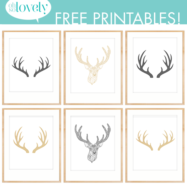 Simplicity image pertaining to printable deer antlers