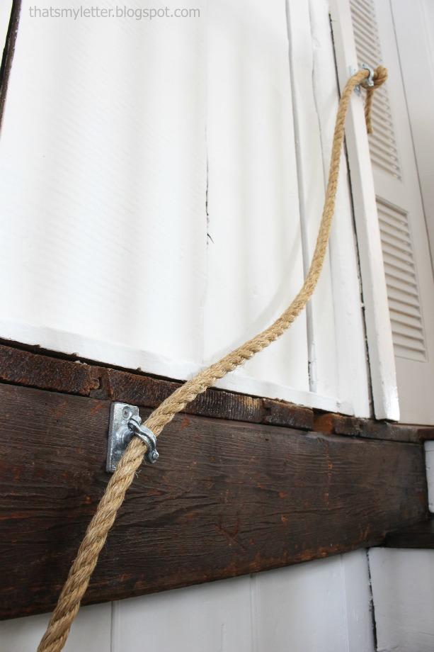 rope handrail pipe hanger hardware