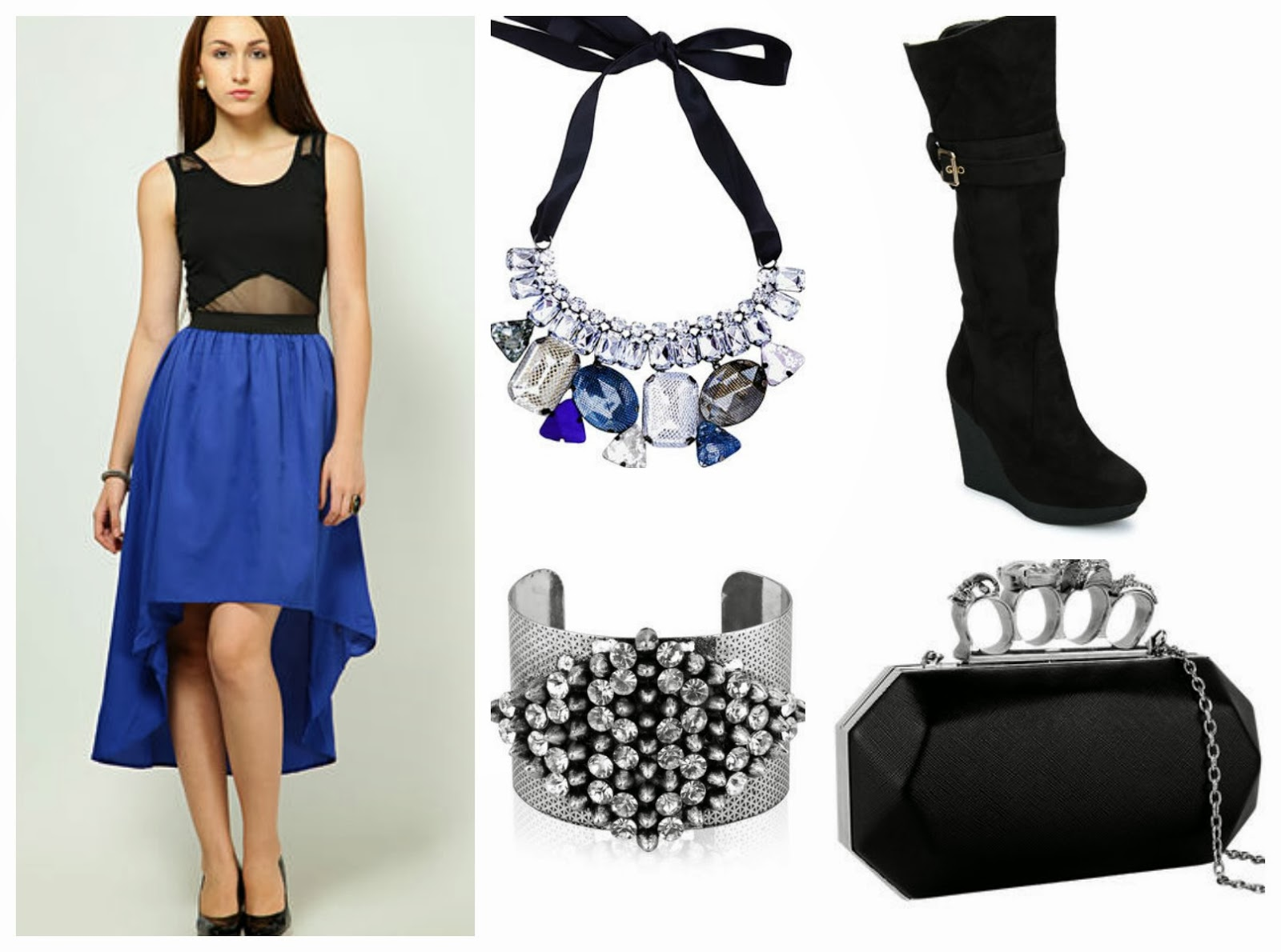 High-Low Dress and Accessories from Jabong.com