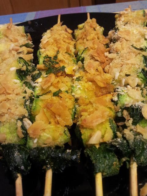 spiedini di zucchine gratinate