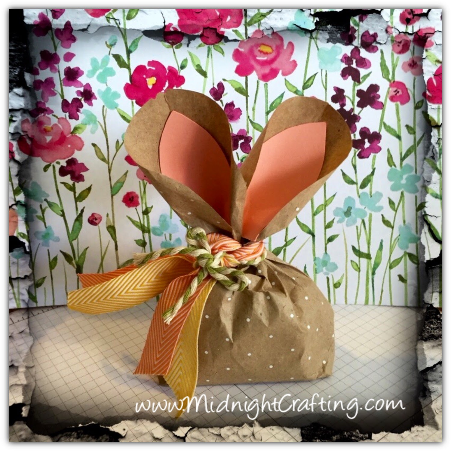 Easter Bunny Treat Bag MidnightCrafting DIY party favor baby shower spring brunch