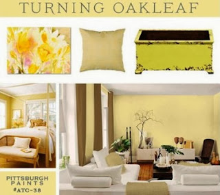 Pittsburgh Paints, Oakleaf, yellow, color trends