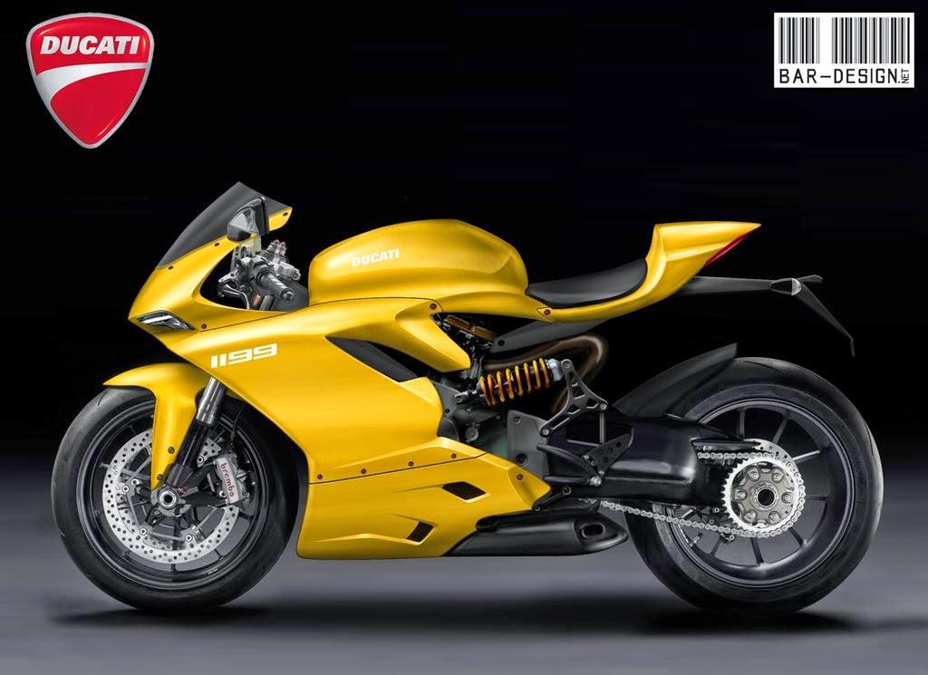 Ducati superbike 1199 yellow color wallpaper desktop