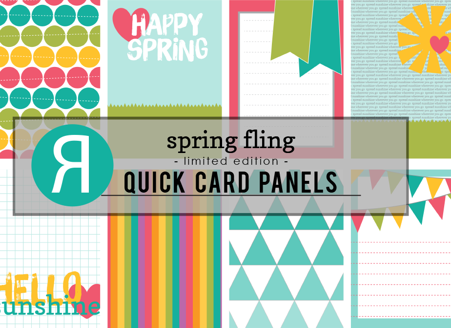 spring fling - quick card panel