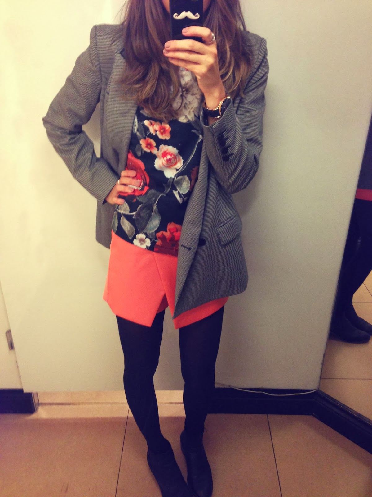 apricot skort skirt topshop london changing room