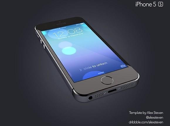 Black Edition iPhone 5s Mockup