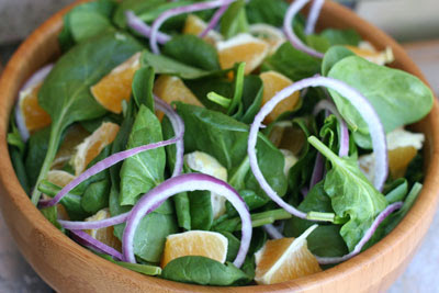 spinach and orange salad