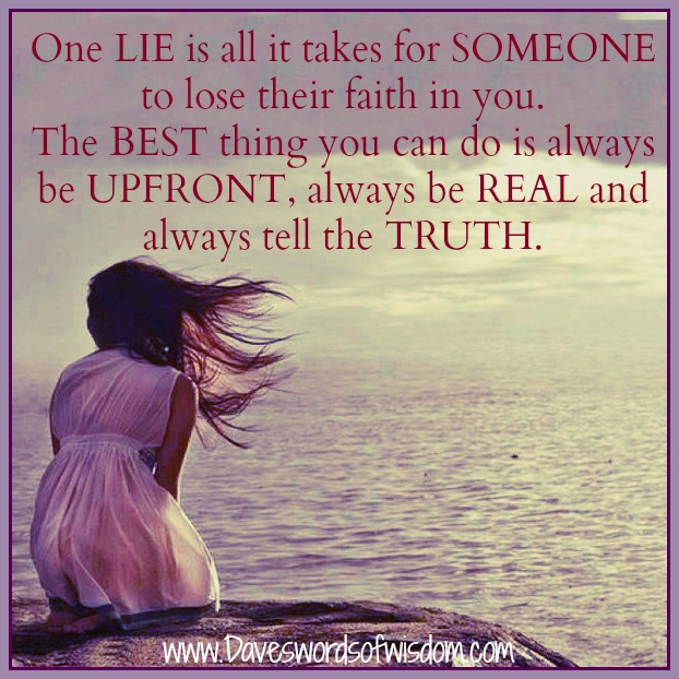 Funny Quotes About Finding Love Again : One lie is all it takes for someone to lose their faith in you.